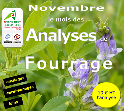 Analyses fourrage chambre d 39 agriculture creuse - Chambre d agriculture haute vienne ...